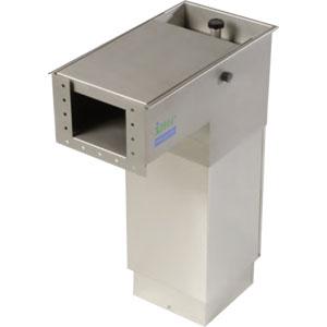 Желоб для слива отходов одинарный, конечный, H800-905мм, 220В