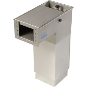 Желоб для слива отходов одинарный, конечный, H800-905мм, 380В