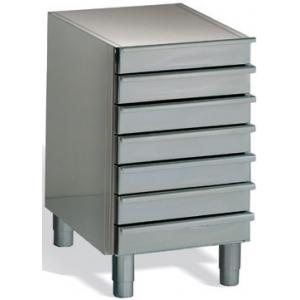 Модуль нейтральный для столов для пиццы, EN, без столешницы, 7 ящиков, ножки, нерж.сталь