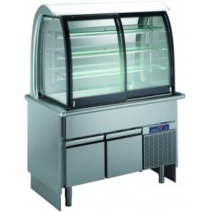 Прилавок-витрина охлажд., 3GN1/1-30, 3 полки, охлажд.нижний шкаф