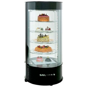 Витрина холодильная настольная, вертикальная, L0.44м, 4 полки, +8/+12С, дин.охл., черная, 2 дверцы распашные стекло