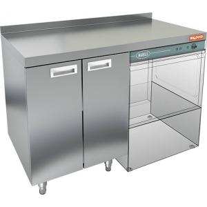 Модуль барный нейтральный для посудомоечных корзин, 1200х600х850мм, борт, 2 двери распашные, ножки, нерж.сталь, правый