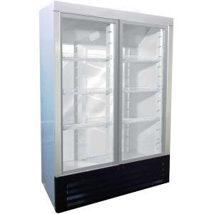 Шкаф холодильный,  760л, 2 двери-купе стекло, 6 полок, ножки, +1/+12С, дин.охл., белый, агрегат нижний