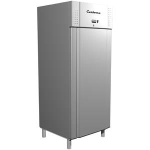 Шкаф комбинированный,  620л, 1 дверь глухая, 2 полки, ножки, 0/+7С и -13С, дин.охл., серый металлик