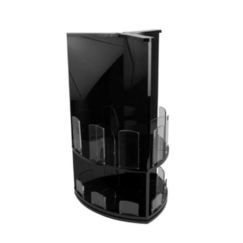 Стенд для стаканов и крышек L 37,3см w 32,8см h 56,4см, пластик черн