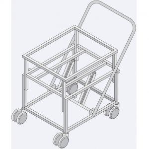 Тележка транспортировочная для выгрузки продуктов из VCC211/311, iVario Pro L/XL, GN2/1, GN1/1