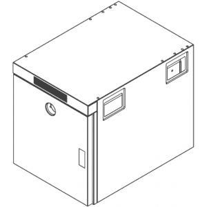 Шкаф тепловой,  5GN2/1, 1 дверь распашная глухая, +30/+120С, нерж.сталь, 220V, электрон.упр., щуп, низкотемп.приготовление, для пароконв. 072, 102