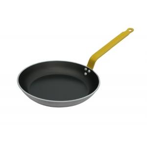 Сковорода D 24см h 3,5см CHOC 5 HACCP с желтой ручкой, алюминий анти