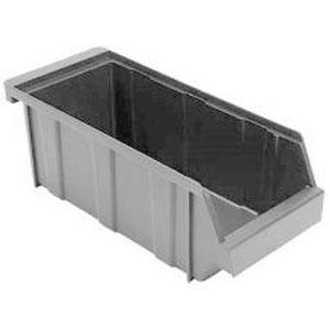 Ящик L 30,5см w 13см h 11см для хранения, полиэтилен серый