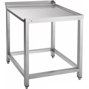 Стол входной-выходной для машин посудомоечных МПТ, L0.70м, 1 борт, обвязка с 4-х сторон, 4 ножки, универсальный, нерж.сталь