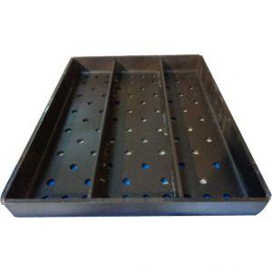 Поддон для древесного угля для гриля на углях BL 150, В/В 150, B TOP 150, Combi BG 150, 320x350мм, перфорированный, комплект 2шт.