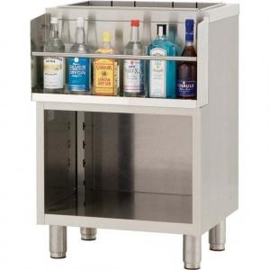 Модуль барный нейтральный,  600х550х850мм, без борта, полузакрытый без двери, ножки , нерж.сталь, держатель бутылок, ванна для льда