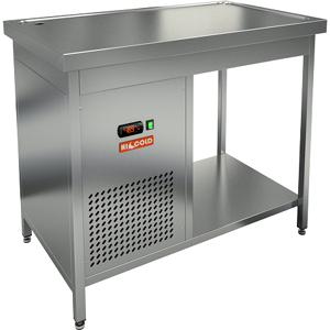Стол холодильный, 1000х700х850мм, без борта, открытый, ножки, +2/+7С, нерж.сталь, агрегат левый, столешница охлаждаемая