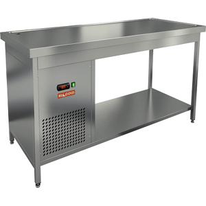 Стол холодильный, 1500х700х850мм, без борта, открытый, ножки, +2/+7С, нерж.сталь, агрегат левый, столешница охлаждаемая