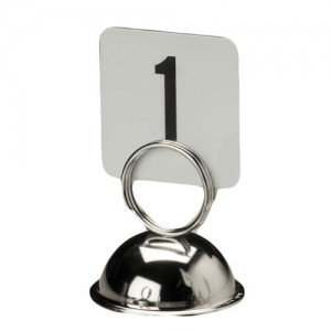 Держатель для карточек h 6,4см КРУГ, металл никелированный