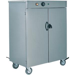 Шкаф тепловой для тарелок, вместимость 100шт. D330мм, 2 двери, 1 полка, нерж.сталь, передвижной