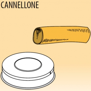 Матрица латунно-бронзовая для аппарата для макаронных изделий MPF 1.5N, cannellone (трубочки большие), D25мм