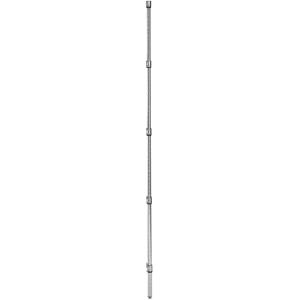 Стойка для стеллажа стационарного, H1.90м, сталь с покрытием хромоникелевым, для сухих помещений