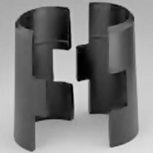 Муфта разъёмная для стеллажа Metromax и Super Erecta, пластик чёрный, комплект 4шт.
