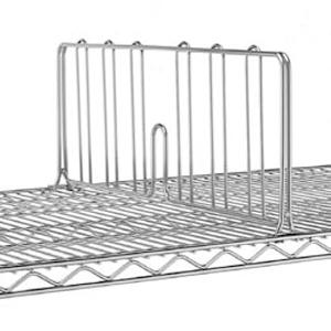 Разделитель решетчатый для полки 530мм, h203мм, сталь с покрытием хромоникелевым, для сухих помещений