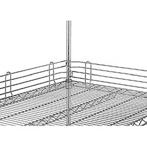 Бортик решетчатый для полки  760мм, h100мм, сталь с покрытием хромоникелевым, для сухих помещений