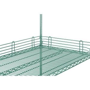 Бортик решетчатый для полки  457мм, h100мм, сталь с покрытием Metroseal3-Microban, для влажных помещений