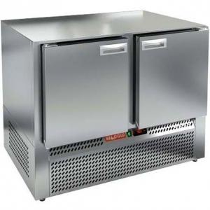 Стол холодильный, GN1/1, L1.00м, без столешницы, 2 двери глухие, ножки, -2/+10С, нерж.сталь, дин.охл., агрегат нижний
