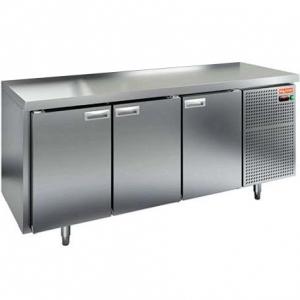 Стол холодильный сквозной, GN1/1, L1.84м, без борта, 6 дверей глухих, ножки, -2/+10С, нерж.сталь, дин.охл., агрегат справа