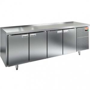Стол холодильный сквозной, GN1/1, L2.28м, без борта, 8 дверей глухих, ножки, -2/+10С, нерж.сталь, дин.охл., агрегат справа