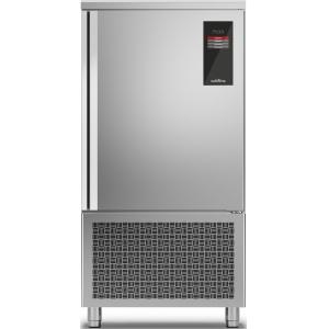 Шкаф шоковой заморозки/охлаждения мороженого, EN, 12 лотков, без агрегата, загрузка 40/50кг, сенс.упр., щуп, ножки, дин.охл., 1 дверь правая, 3 полки