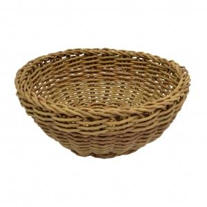 Корзина D 23см h 8см плетеная, полиротанг коричневый