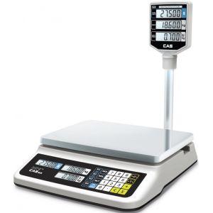Весы электронные торговые, настольные, ПВ 0.10-30.0кг, платформа 330х235мм, подключение комбинированное, корпус пластик, RS-232C, дисплей на стойке