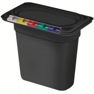Гастроемкость GN1/9х150, полипропилен черный