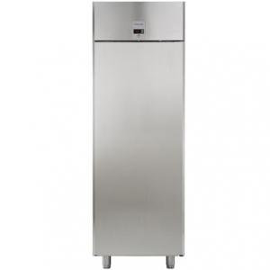 Шкаф морозильный, GN2/1,  670л, 1 дверь глухая, 3 полки, ножки, -15/-22С, дин.охл., нерж.сталь AISI430, Ecostore