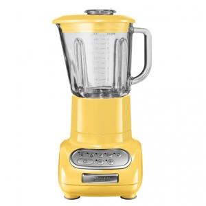 Блендер, стакан 1.5л. (стекло), 6 скоростей, Pulse, желтый