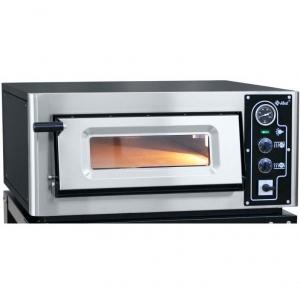 Печь для пиццы электрическая, подовая, 1 камера  516х546х125мм, 4 пиццы D250мм, электромех.управление, дверь стекло, под камень