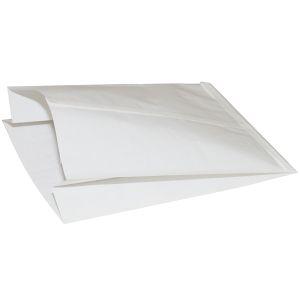 Пакет бумажный 420x250x100мм плоское дно белый, 1500шт
