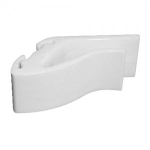 Зажим L 5см (набор 10 шт), поликарбонат белый