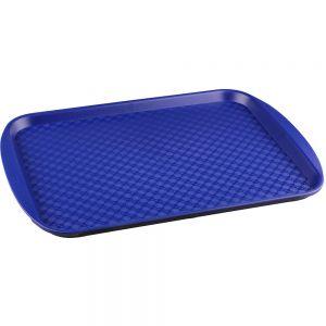 Поднос L 45см w 35см прямоугольный, полистирол синий