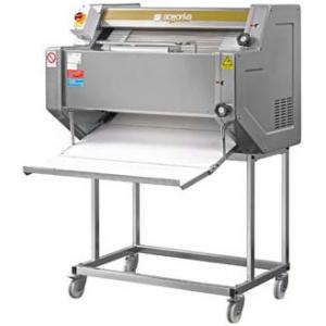 Тестозакатка для багетов электрическая напольная, ширина 780мм, вес заготовки 100-2000г, нерж.сталь, колеса