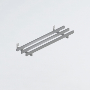 Направляющие для подносов, нерж.сталь, кронштейны белые, L1.8м
