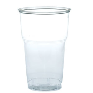 Стакан для пива 500мл пластик прозрачный, 50 шт