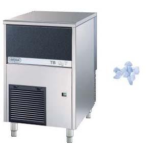 Льдогенератор для крупногранулированного льда,   85кг/сут, бункер 20.0кг, возд.охлаждение, корпус нерж.сталь