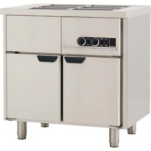 Мармит электрический для вторых блюд, L0.86м, без борта, 2GN1/1, нагрев паровой, шкаф тепловой, нерж.сталь, ножки 140мм