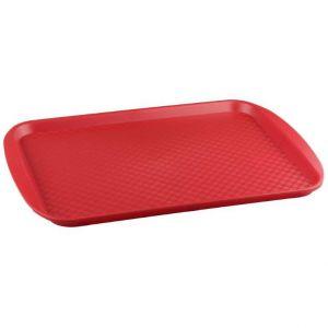 Поднос L 42см w 30см прямоугольный, полистирол красный