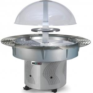 Салат-бар холод., круглый, купол, подсв.купола, разделитель, направ.
