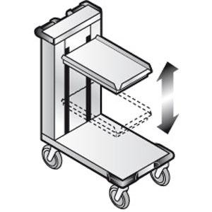 Диспенсер для подносов, 120-150шт., передвижной, нерж.сталь