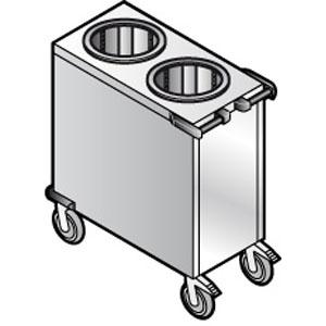 Диспенсер для тарелок нетральный, 2х60 шт., D190/260мм, передвижной, нерж.сталь