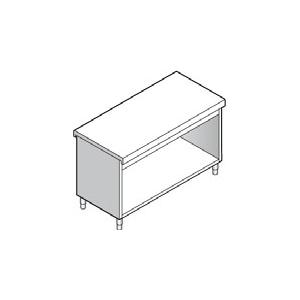 Прилавок раздаточный нейтральный, L1.13м, стенд полузакрытый без двери, нерж.сталь
