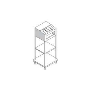 Прилавок раздаточный для хлеба, подносов и стол.приборов, L1.13м, нерж.сталь
